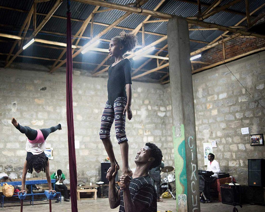 Circus Training.