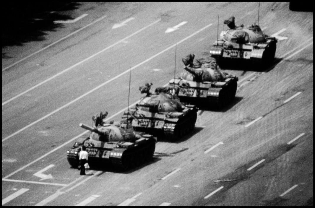 CHINA. Beijing. Tiananmen Square. 'the tank man' 4th June 1989.