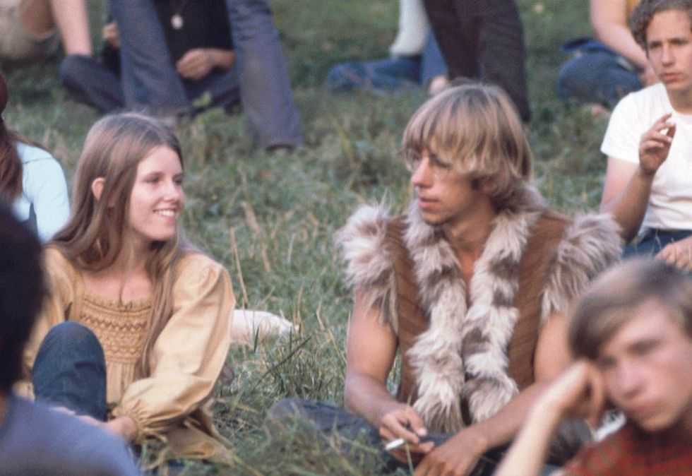 Image: Ralph Ackerman / Time Life Pictures / Getty Images Kids on the grass near the free stage at Woodstock 1969