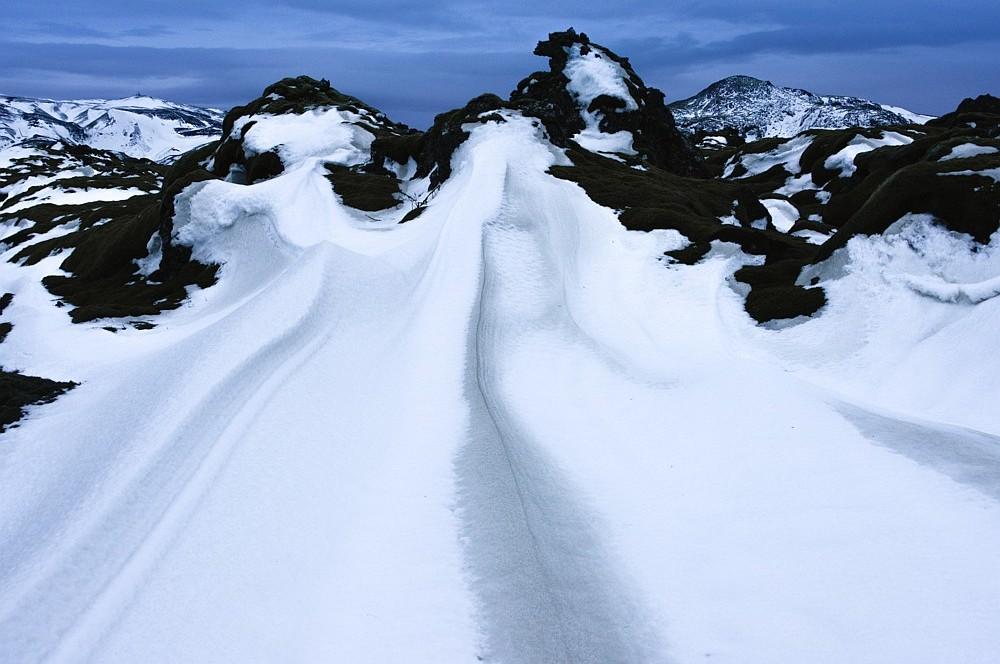 Snowsacpe near Hellisheid, Iceland