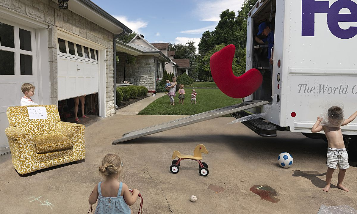 Julie Blackmon best shot New Chair inspired by Norman Rockwell