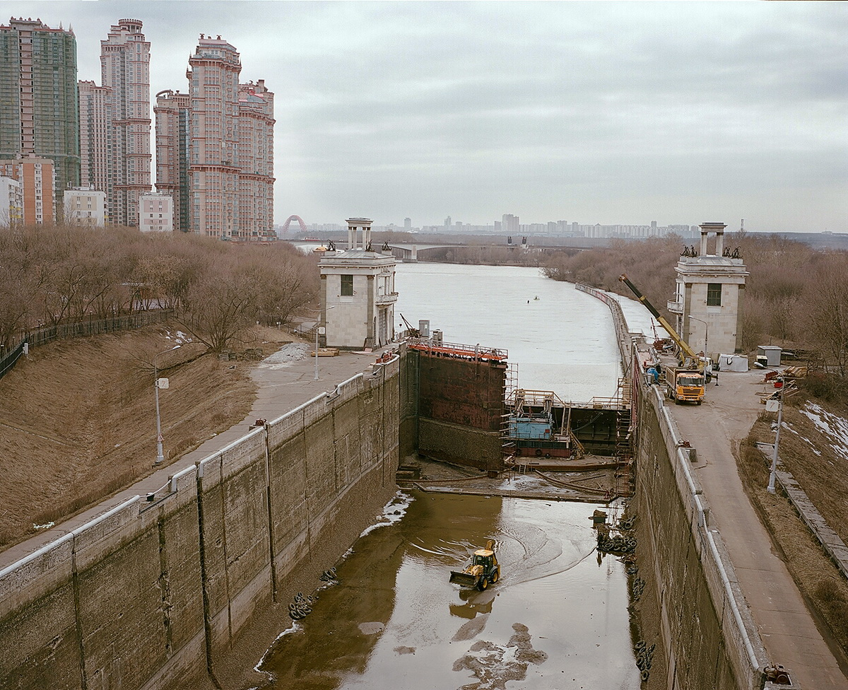 Lock ¹8, where Moscow canal flows into Moscow river