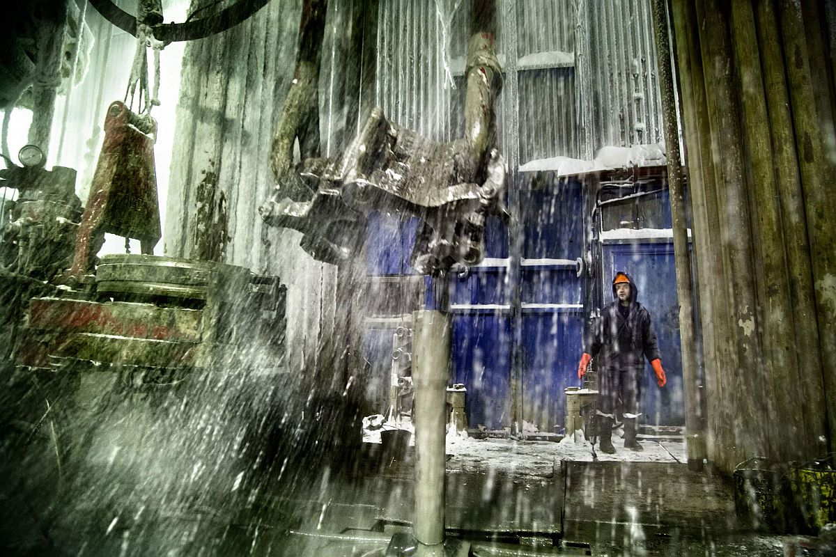 A Russian worker at a drilling well in Yamal, Arctic Siberia, Russia, which has the world's largest gas deposit.