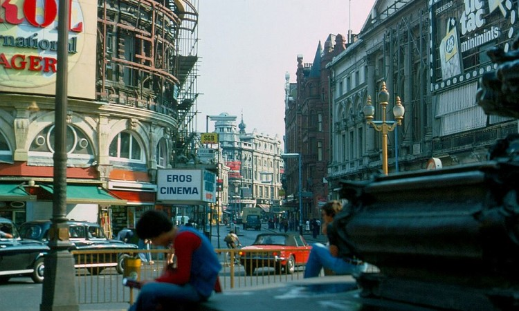 Streets of City of London in 1976