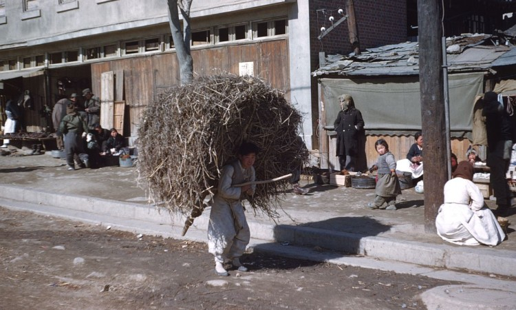 Seoul during the winter 1952 (Korean War period)