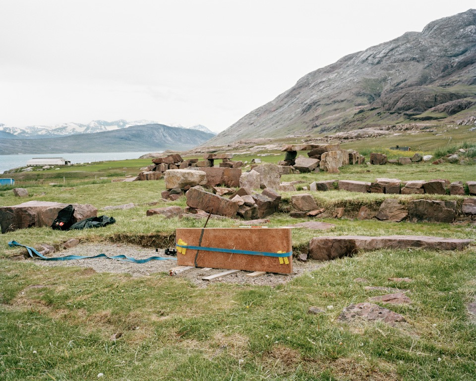 "Gardar Stone, Igaliku, Greenland, 2014, C-print, 24""x30"" © Jessica Auer"