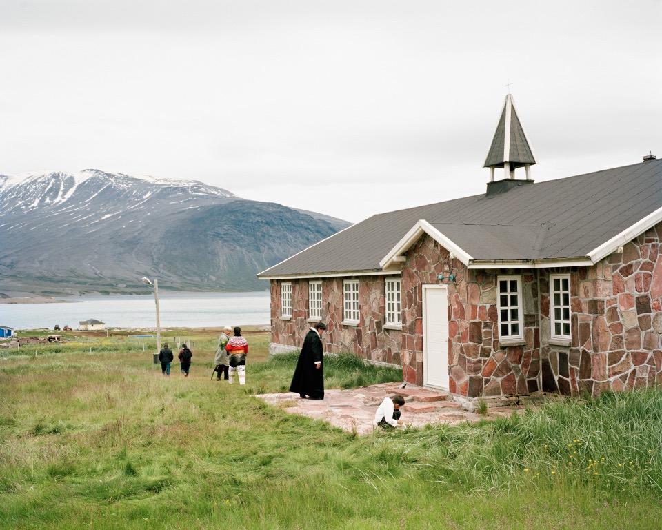 "Igaliku Church, Greenland, 2014, C-print, 24""x30"" © Jessica Auer"