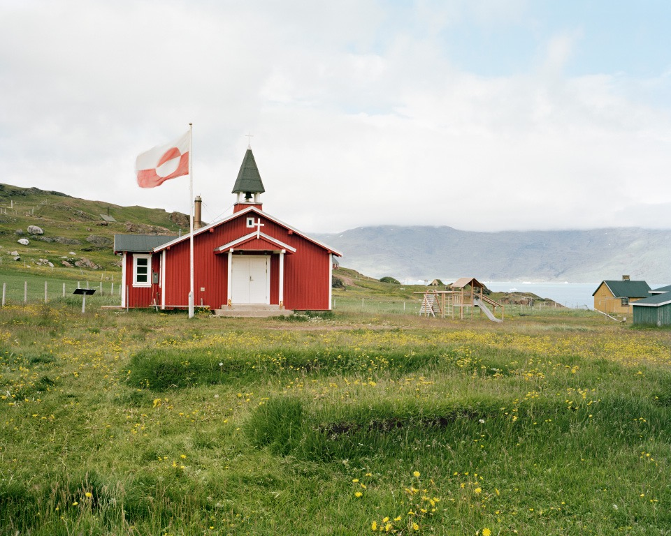 "Quassiarsuk Church, Greenland, 2014, C-print, 24""x30"" © Jessica Auer"