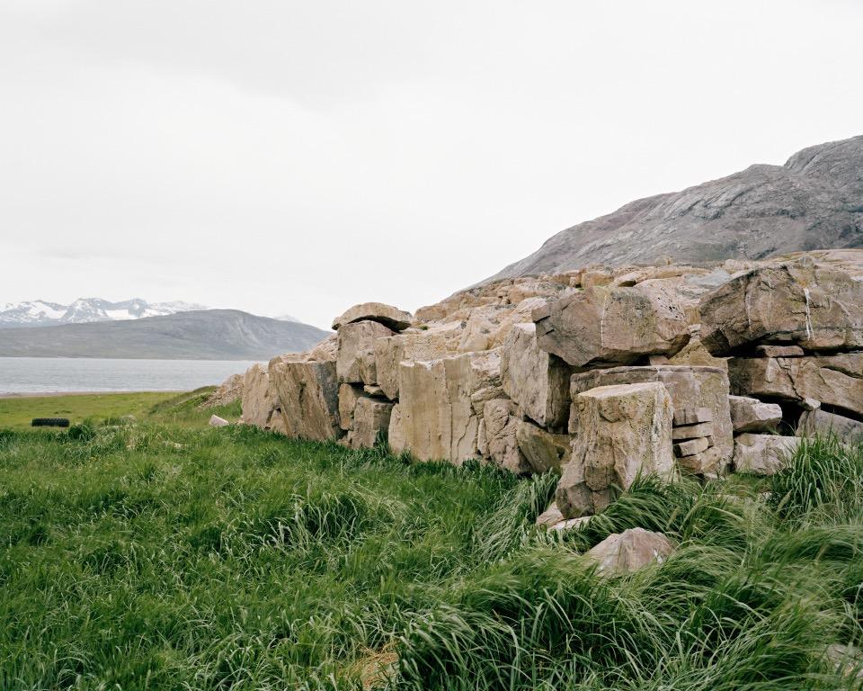 "Ruins, Gardar, Greenland, 2014, C-print, 24""x30"" © Jessica Auer"