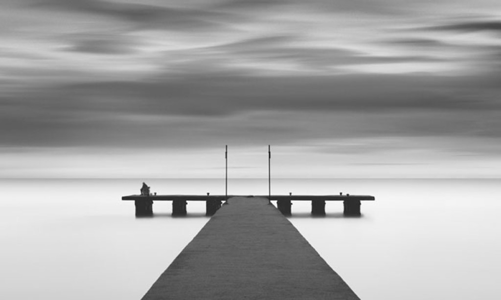 Michael Levin: Minimalist Black & White Landscapes