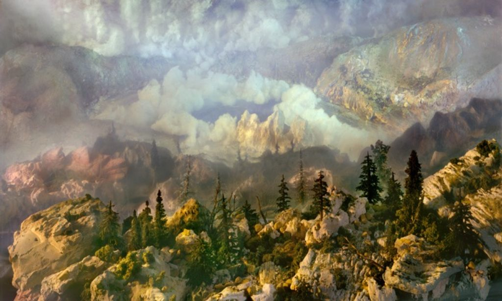 Kim Keever: Landscapes Created in Fish Tank