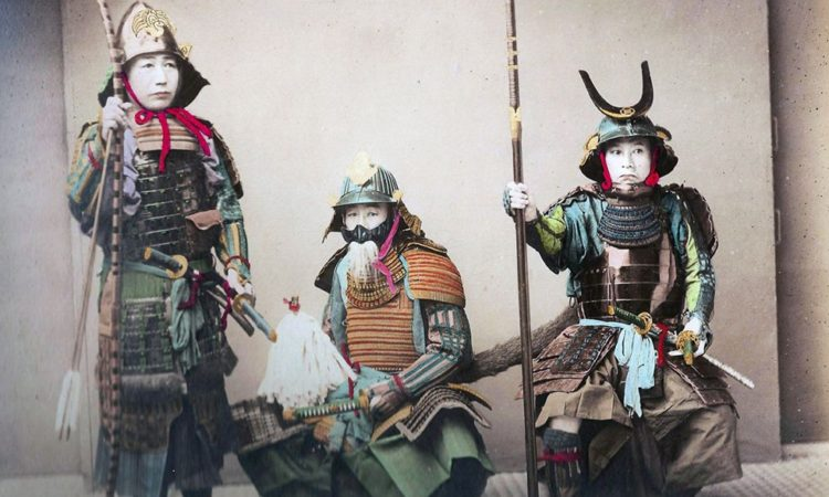 Colored Photos of Japanese Samurai (1800s)